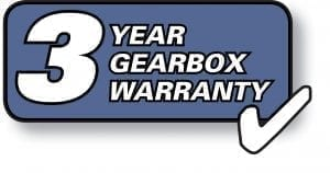 3 year gearbox warranty logo