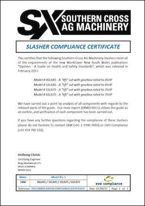 Slasher Compliance Certificate