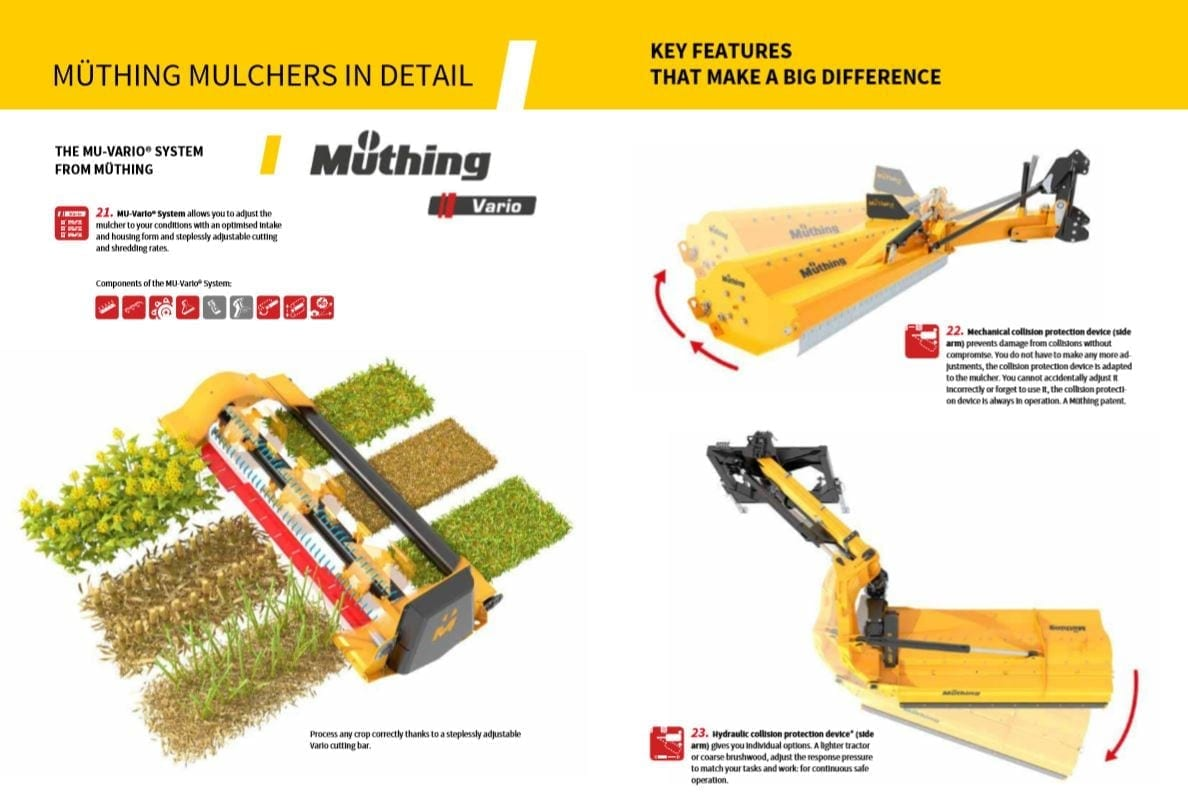 muthing mulchers in detail