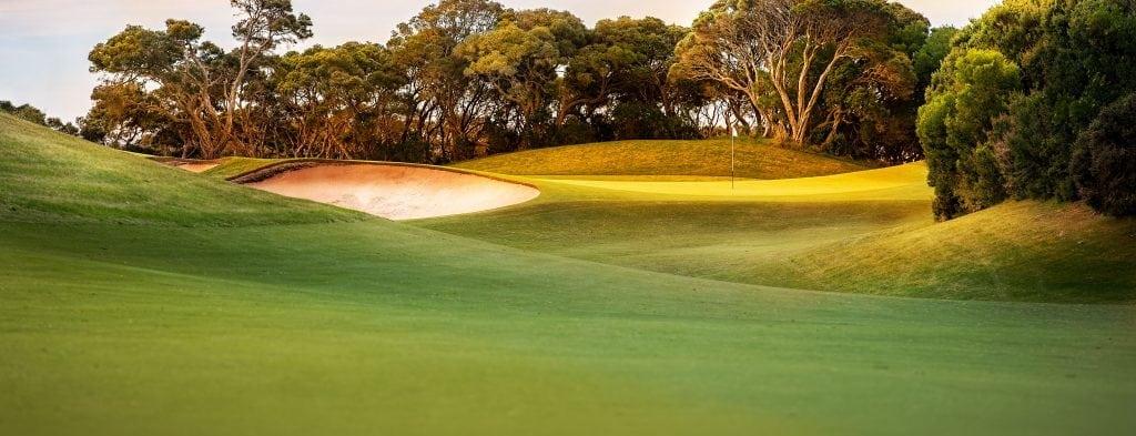 mulching golfing greens