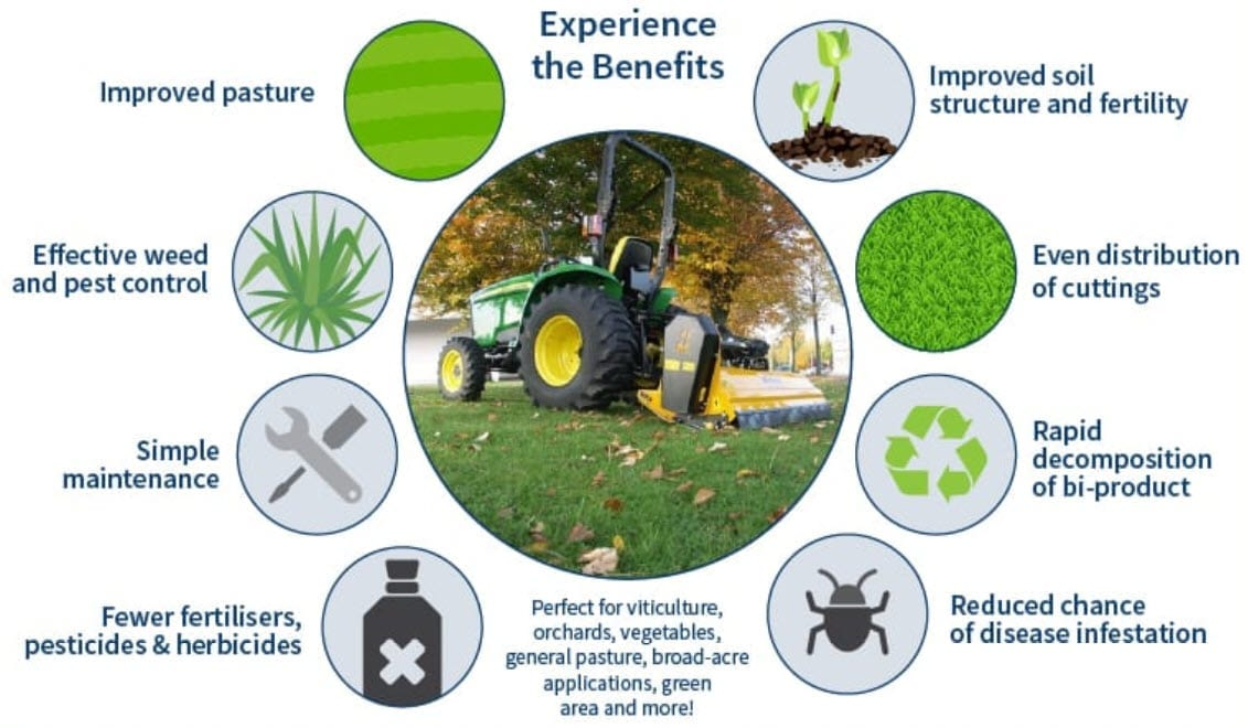 Muthing Mulcher pasture benefits